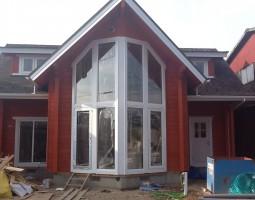 ログハウス 窓
