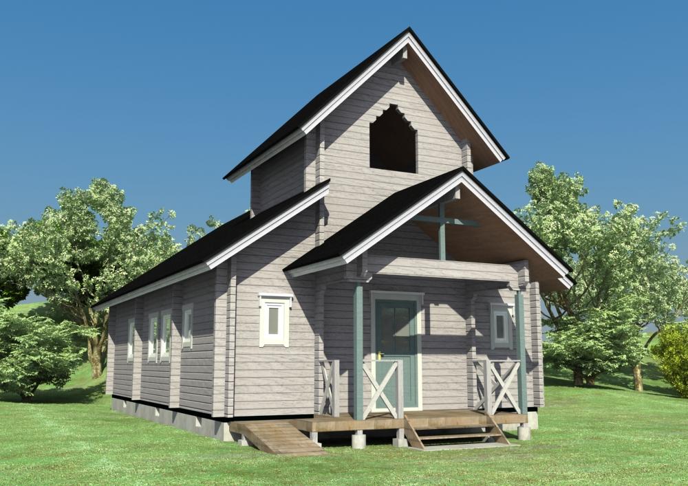 教会のログハウス