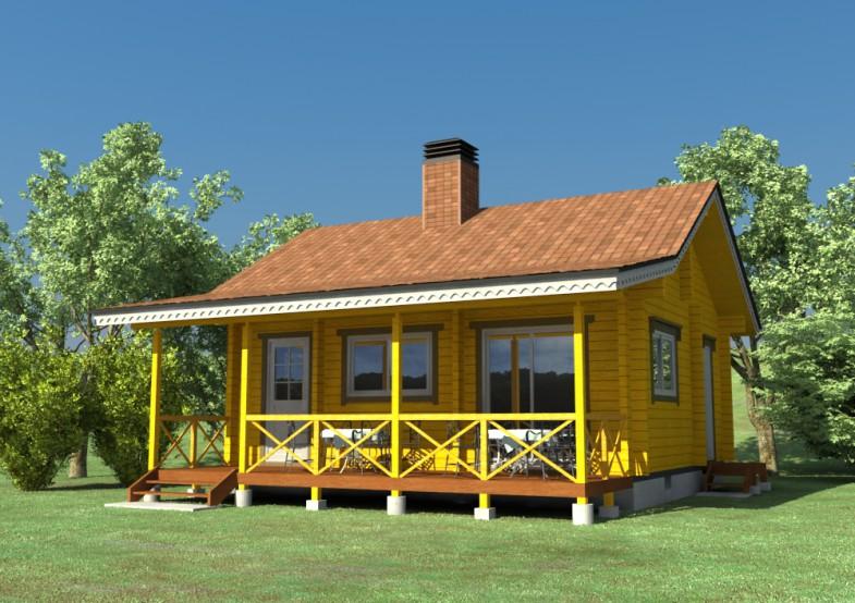 ログハウスの完成イメージ