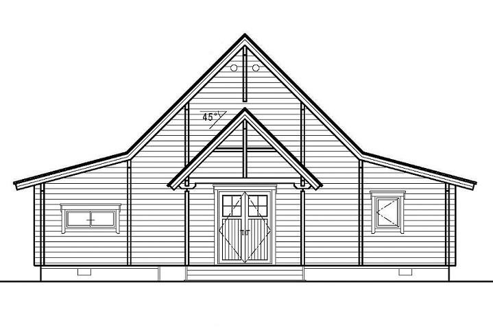 Elevation Church Plan A Visit : Church 教会 b ログハウスメーカーのサエラホーム