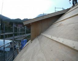 ログハウス 屋根 建築風景