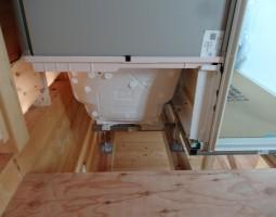 ログハウス浴室工事