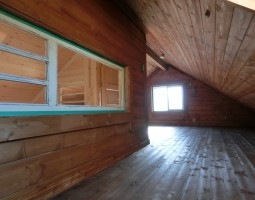 ログハウスの内装写真