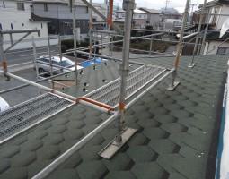 ログハウスの屋根